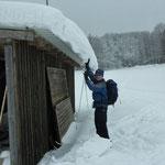 Reichlich Schnee im Nürnberger Land (Foto: Dr. Birgit Esslinger).