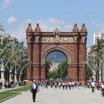 Der Triumpfbogen von Barcelona.