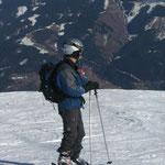 Bei dem schönen Wetter geht der Blick immer wieder auf das Bergpanorama (Foto: Dr. W. Dieterich)..