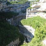 Die für Canyoning und Flusswanderungen gut geeignete Schlucht des Rio Vero.
