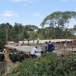 Heute (24.7.2012) wurde das Dach des 1. Erweiterungsbaus des Mädchen-Dormatory betoniert, was großes Interesse seitens der Schulgemeinde fand.