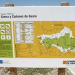 Übersichtkarte auf einem Schild des Naturschutzparks.