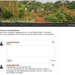 Screenshort der neu geschaffenen Internetseite der Kishumundu Secondary School.