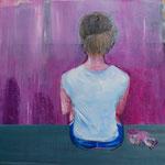 POSTERIORE / 666 - Acryl/Öl auf Leinwand - 80 x 80 cm - 2019