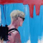 POSTERIORE / 444- Acryl/Öl auf Leinwand - 80 x 80 cm - 2019