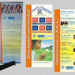 Kinderschutzbund Freiberg | Roll up, Faltblätter, Postkarten
