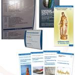 Bergakademie Freiberg - Institut für Markscheidewesen und Geodäsie | Leit- und Orientierungssystem, Faltblätter, Einladungen