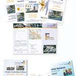 Vereinigte Gesundheitseinrichtungen Freiberg GmbH (VGE) | Faltblätter, Einladungen, Postkarten
