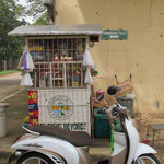 Kiosk mit unserem fahrbaren Untersatz