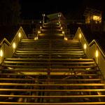 Treppe zur Seebrücke in Sellin