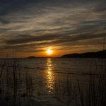 Sonnenuntergang am Bodden / Baabe