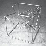 Cube en barreaux d'acier/Stangenwürfel, 1979