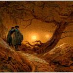 Due uomini che contemplano la luna