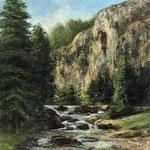 Studio per paesaggio con cascata - 1877