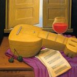 Fernando Botero - Natura morta con mandolino (1998)