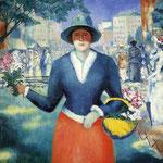 Kazimir Malevich - La fioraia (1903)
