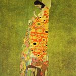 Attesa - 1907/1908 - Olio e oro su tela