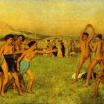 Ragazze e ragazzi spartani - 1860/62 - Olio su tela