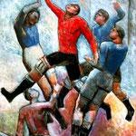 Carlo Carrà - Partita di calcio (1934)