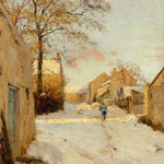 A Village Street in Winter, 1893