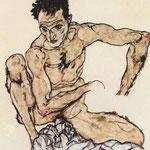 Autoritratto nudo maschile - 1917