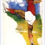 Renato Guttuso - Ritmi di calciatori, 1983