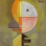Verso l'alto - 1929 - Olio su carta