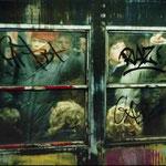 Métro à l'heure de pointe, New-York, 1982