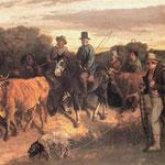 Contadini di Flagey ritornano dalla fiera - 1850