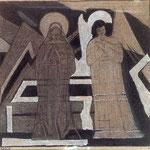 Angelo del Bene e Angelo del Male, 1968, olio su tela, cm 34x35.