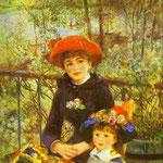 Le due sorelle (sulla terrazza) - 1881 - Olio su tela