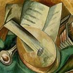 Georges Braque - Natura morta con strumenti musicali (1908)