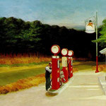 Edward Hopper - Distributore di carburante(1940)