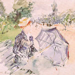 Lady with a Parasol Sitting in a Park, 1885