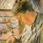 Portrait of Madame Pissarro Sewing near a Window, 1878