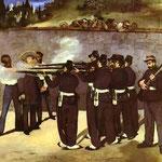Edouard Manet - L'esecuzione dell'imperatore Massimiliano del Messico - 1867/1868 - Olio su tela