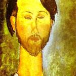 Ritratto del poeta polacco Leopold e mercante d'arte Zborovski (1889-1932) - 1918 - Olio su tela