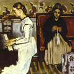 Ragazza al pianoforte, Ritratto della sorella dell'artista e Madre - 1868-1869 - Olio su tela