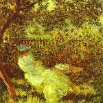 Claude Monet - Alice Hoschedé nel Giardino - 1881 - Olio su tela