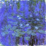 Claude Monet - Ninfee blu - 1916-1919 - Olio su tela