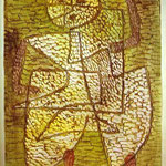 The Future Man. 1933. Watercolor applied by spatula. 61.8 x 46 cm. Paul Klee Foundation, Kunstmuseum, Berne, Switzerland.