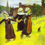 Ragazze che ballano in Breton,Pont-Aven - 1888 - Olio su tela