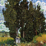 Cypresses with Two Women, 1889