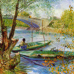Fishing in the Spring, Pont de Clichy, 1887
