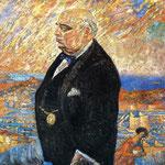 Ritratto di mio padre - 1920-1921 - Olio su tela