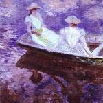 Claude Monet - Le ragazze in una barca - 1887 - Olio su tela