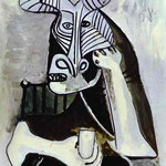 Il re dei Minotauri - 1958 - Olio su tela.