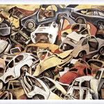 Renato Guttuso - Sfascio di automobili, 1979