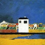 Kazimir Malevich - Paesaggio con casa bianca (1930)