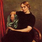 Retrato de Isa con vestido negro